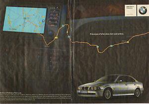 Publicité Advertising 2002  (Double page)  BMW Série 5 Préférence Pack Luxe