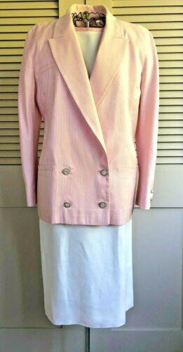 Vintage Valentino Night 3-Piece Pink/Ivory Seersuc