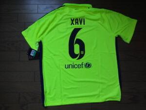 52925c6c897 FC Barcelona  6 Xavi 100% Original Jersey Shirt 2014 15 Third XL ...