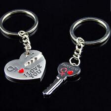 I Love You Heart+Arrow+Key Couple Key Chains Ring Keyring Keyfob Lover Gift luzh