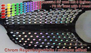CHROM-oil-slick-Regenbogen-Aufkleber-Decals-f-Mercedes-W205-Urban-Diamantgrill