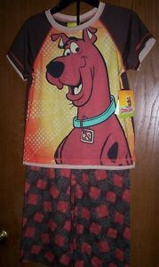 SCOOBY DOO Boy s size 6 7 New 2 piece Pajamas S S Shirt Pants Pjs ... 8158af43c