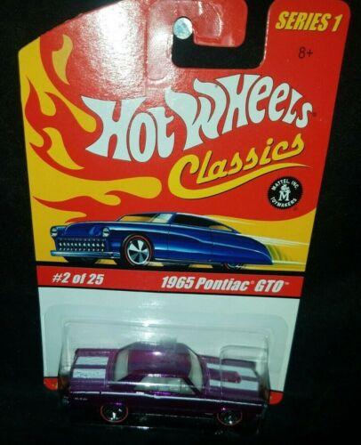 Hot Wheels Classics Series #1 1965 Pontiac GTO Purple Redlines VHTF