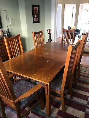 Bassett Dining Room Or Kitchen Table With Leaf And 6 Chairs Ebay