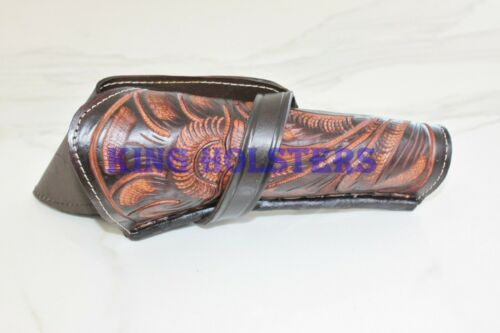NEW RIGHT 44//45 Cross Draw Tooled Leather Case Revolver Holster Gun Pistol SASS