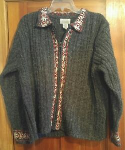000-Vintage-St-John-039-s-Bay-Large-Sweater-Zip-Front-Men-039-s