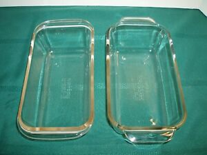 Vintage Pyrex Glass Loaf Dishes 213 & 213R
