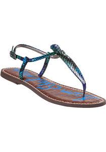 Sam Edelman Gigi Swamp Snake Damenss Leder Ankle Strap Sandale Damenss Snake 5 12 475c40