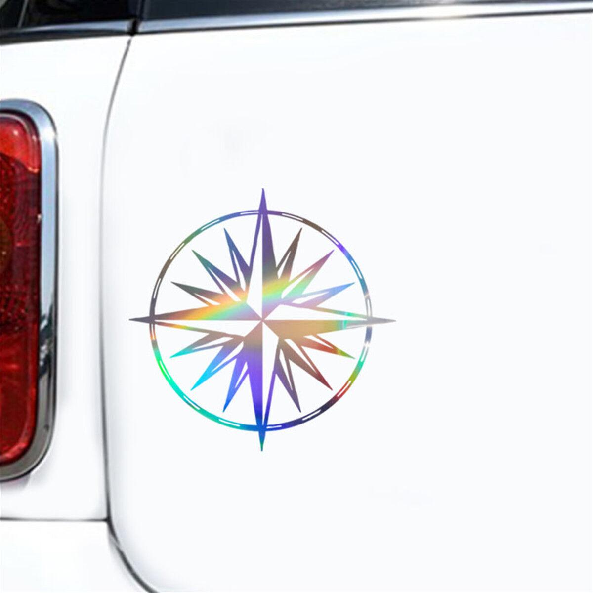 1pc Wind Rose Compass Car Sticker Window Laptop Wall Door Auto Truck Vinyl Decal