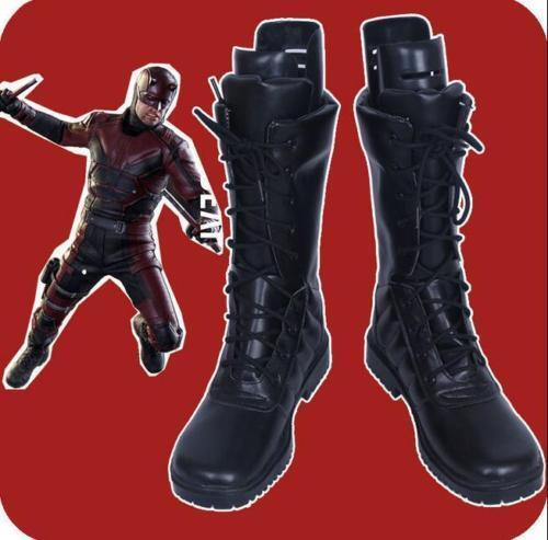 Custom Made Daredevil Matt Cosplay Shoes Boots Black Customize Unisex Shoes#23