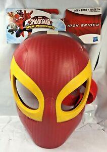 Marvel-Ultimate-Spider-Man-Iron-Spider-Mask-Web-Warriors-Hasbro-Rare-Colors-FS