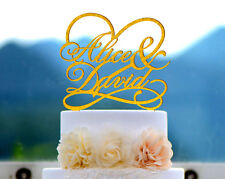 Personalized Wedding Cake Topper Acrylic Laser Cut Custom Party Cake Topper #030