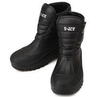 New Mens Black Warm Waterproof Winter Snow Rain Boots Nova