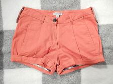 BURBERRY Shorts Gr XS gedecktes orange Hotpants