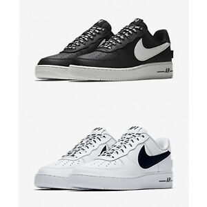 Scarpe-Nike-Air-Force-One-1-Low-07-NBA-White-Black-Sneaker-Basket-Shoes-Uomo