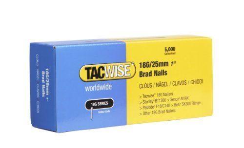 boîte de 5000 Tacwise 0396 18G// 25 mm Clous Pour Pistolet à Clous