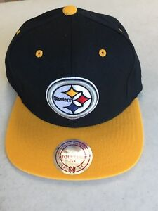 Image is loading MITCHELL-AND-NESS-PITTSBURGH-STEELERS-BLACK-RETRO-LOGO- abd64c679b44
