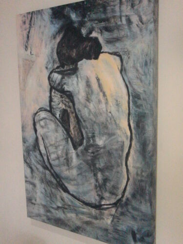 Blue Nude Picasso reproduction art  Oil Painting 30x20 Decor Framing available