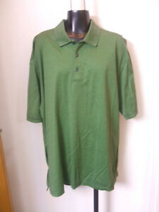 Austin Reed London Xl Green Black Striped Polo Shirt Double Mesmerized Cotton Ebay