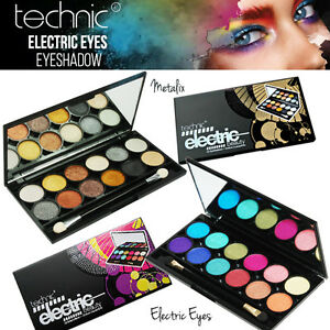 Technic-Electric-Eyes-12-Colour-EyeShadow-Palette-Metallic-Bright-Colours