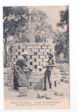 AFRIQUE scenes types ethnies missions Ethnics construction d'un four a briques