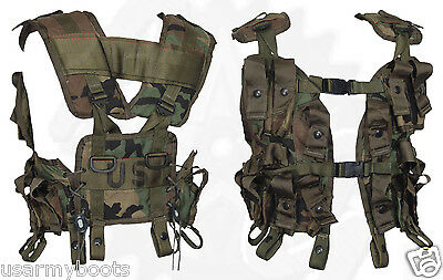 Made in USA Woodland US Army Tactical Grenade Carrier Load Bearing LBV GI Vest