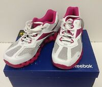 $100 Reebok V57530 Women Zigtech Zigpulse Ii White Silver Berry Size Us 6.5