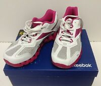 $100 Reebok V57530 Women Zigtech Zigpulse Ii White Silver Berry Size Us 6.5
