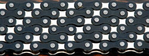 "Black Silver 2 Tone Fixie Bicycle Chain 1//2/"" x1//8/"" 112L Schwinn Cruiser Bike BMX"