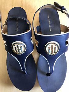 ea86854ceb6 Tommy Hilfiger Gelia Women s Sandal SIZE 9.5 BLUE NEW IN BOX NIB