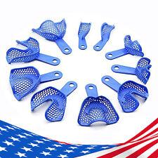 10 Pcs Dental Plastic Steel Impression Trays Denture U Amp L Cold Sterilization