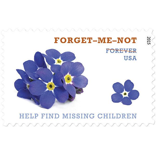 2015 49c Help Find Missing Children, Forget-Me-Not Scot