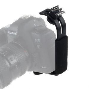Adjustable L Flash Bracket Hot Shoe Mount Stand For Flash Light Speedlight DSLR