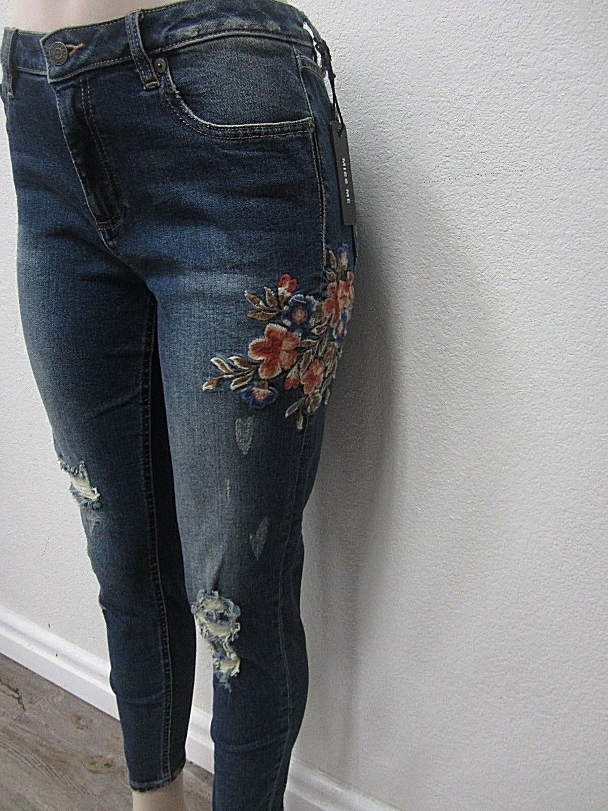 NWT WOMEN'S MISS ME JEANS M2056AK MID RISE ANKLE SKINNY CUT SIZE 31 x 27