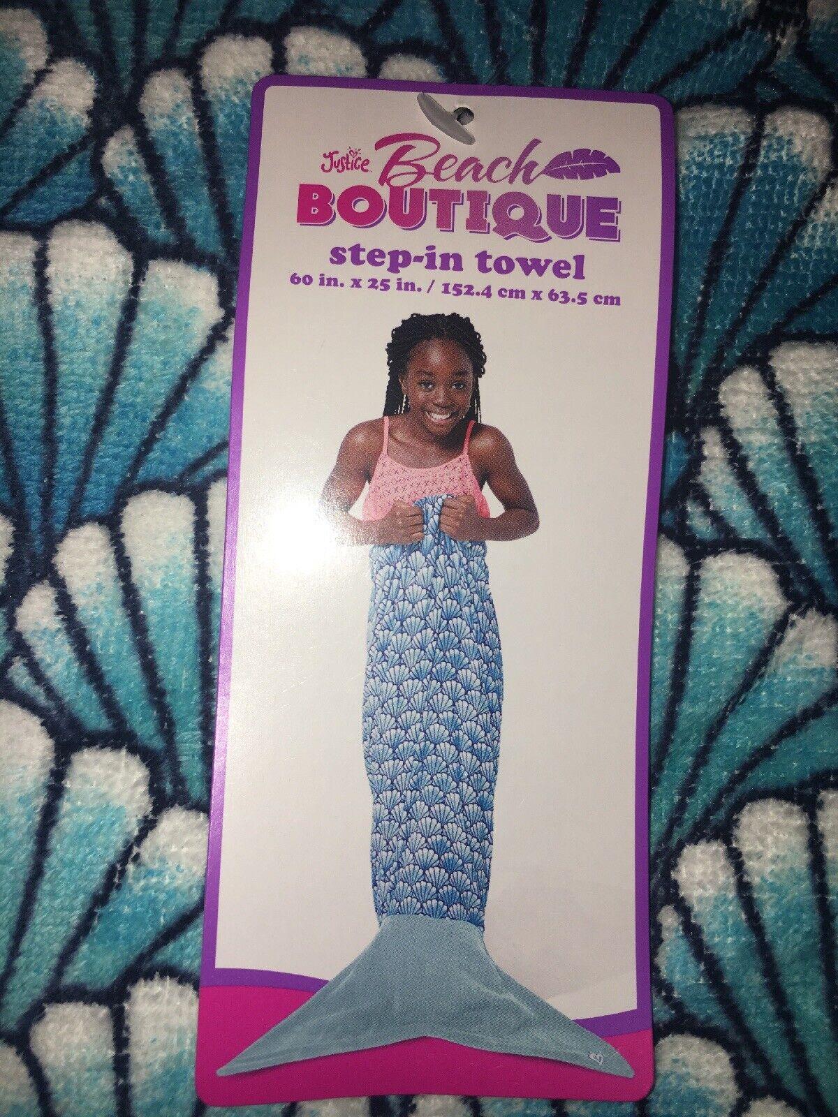 Justice Girls Beach Boutique Pink Step-in Mermaid Towel Swing NWT!