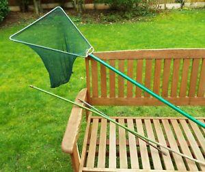 Vintage-1950s-60s-Angling-Fishing-Landing-Net-amp-3-handles