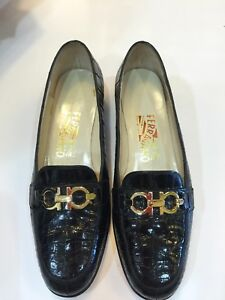 856fe5fbbe19 Image is loading Salvatore-Ferragamo-Woman-Loafers-Size-5