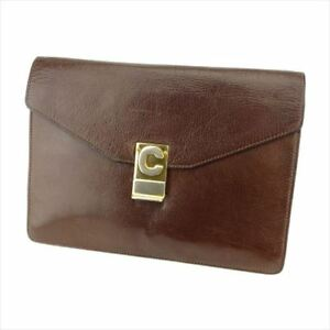 f056ea9948eb6 Celine Clutch bag Brown Gold leather Woman unisex Authentic Used ...
