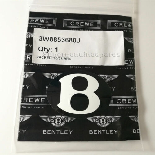 "Genuine Bentley Continental Flying Spur Rear Hood Bonnet /""B/"" Badge 3W8853680J"