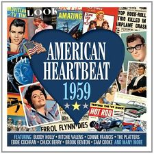 AMERICAN HEARTNEAT 1959 2 CD (Buddy Holly, Brook Benton, Chuck Berry) NEU
