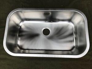 "Oliveri 890-U 30""x18"" Down Undermount Single Basin Sink - Stainless Steel"