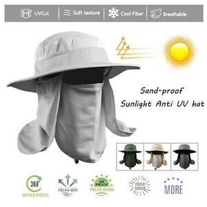 Durable Hiking Fishing Hat Outdoor Sun Protection Neck Face Flap Cap ... ae087df693a
