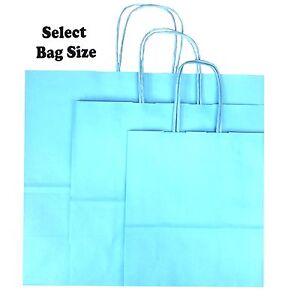 Bleu-clair-papier-sacs-cadeau-boutique-shop-sac-fete-taille-small-medium-large