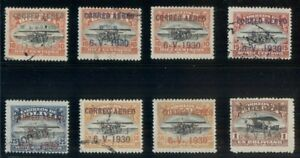 BOLIVIA-C11-18-Complete-Zeppelin-set-mint-amp-used-C13-is-signed-Bloch