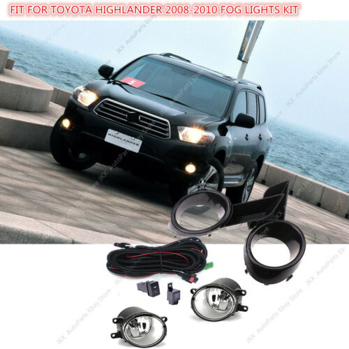 Bumper Lamp Fog Light/&Switch/&Wiring Kit Assy k For Toyota Highlander 08 09 10