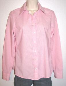 Banana Republic Women's No-Iron Fitted Long Sleeve Pink Stretch Shirt Size 4