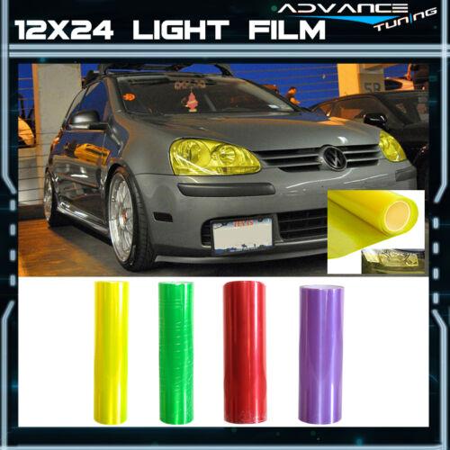 Auto Car Tint Headlight Tail Fog Light Vinyl Film Sheet - Most Popular Color