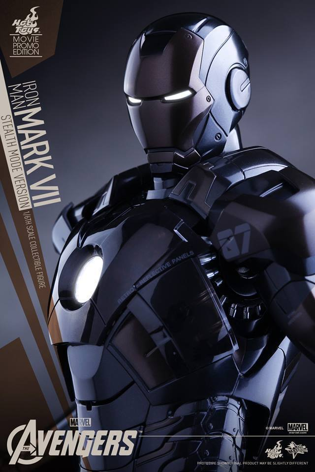 Hot Toys Iron Man Mark VII STEALTH Sideshow Exclusive Avengers Ultron Sealed New
