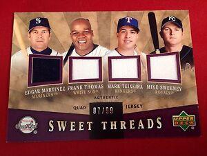 Upper Deck 2004 Sweet Spot Sweet Threads Sweeny Teixeira Thomas Martinez