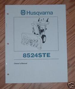husqvarna snow king manual